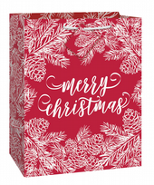 Red & White Merry Christmas Large Gift Bag